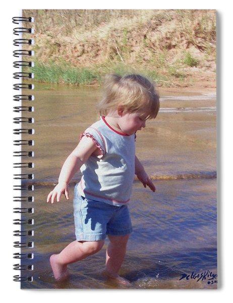 River Wading Spiral Notebook