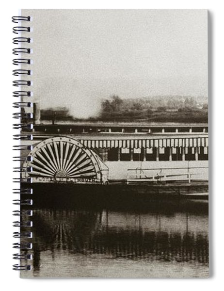 Riverboat  Mayflower Of Plymouth   Susquehanna River Near Wilkes Barre Pennsylvania Late 1800s Spiral Notebook