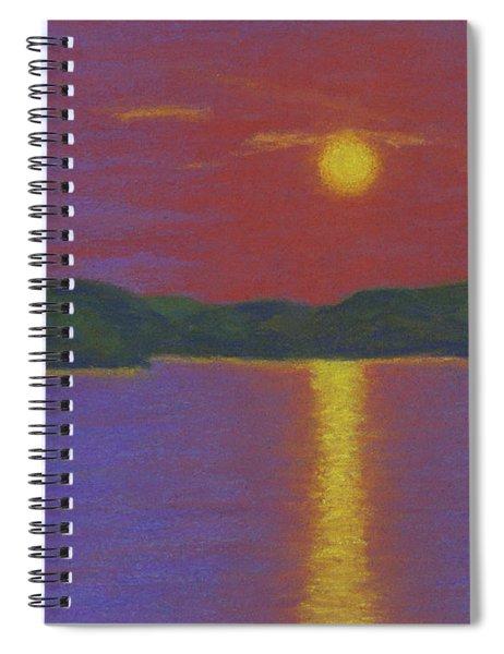 Riverboat Sunset Spiral Notebook
