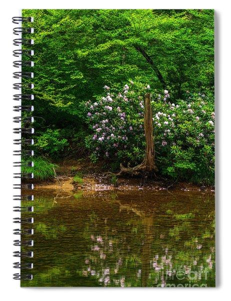 Riverside Rhododendron Spiral Notebook