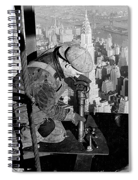 Riveters On The Empire State Building Spiral Notebook