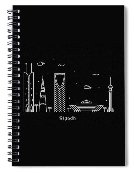 Riyadh Skyline Travel Poster Spiral Notebook