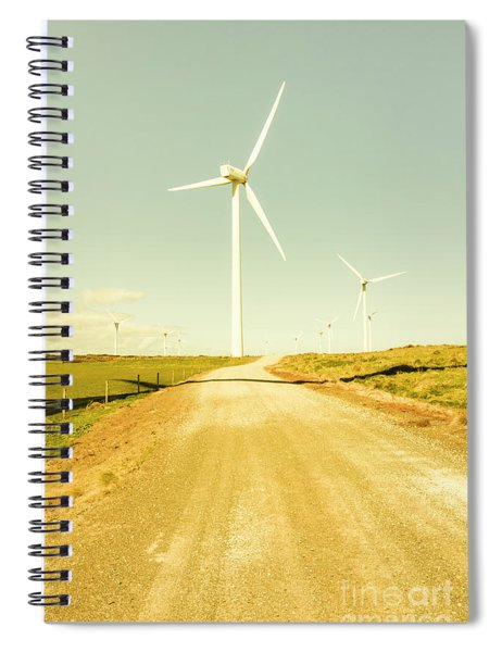 Road To Green Farming Spiral Notebook