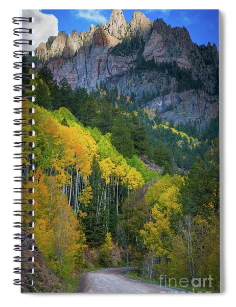 Spiral Notebook featuring the photograph Road To Silver Mountain by Inge Johnsson