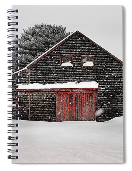 Roadside Barn In The Storm Spiral Notebook