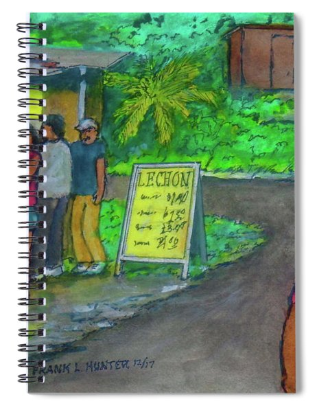Roadside Pig Roast Puerto Rico Spiral Notebook