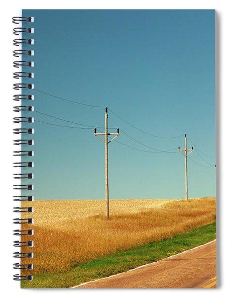 Roadside Poles Spiral Notebook