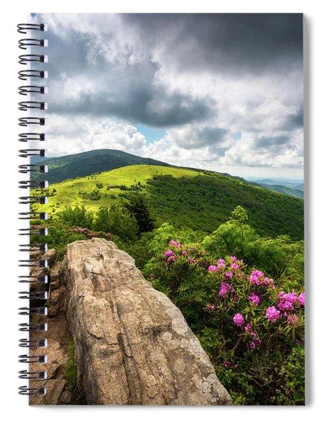 Roan Mountain Radiance Appalachian Trail Nc Tn Mountains Spiral Notebook