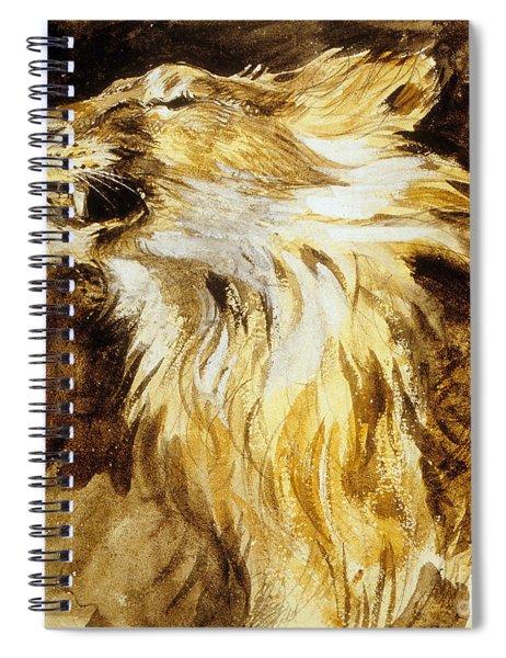 Roaring Lion Spiral Notebook