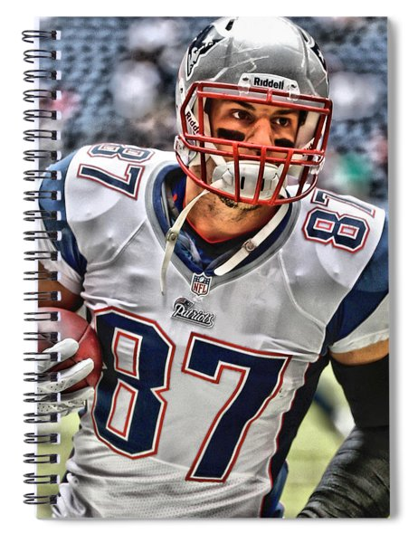 Rob Gronkowski Art 2 Spiral Notebook