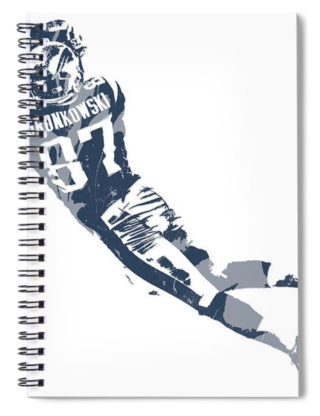 Rob Gronkowski New England Patriots Pixel Art 10 Spiral Notebook