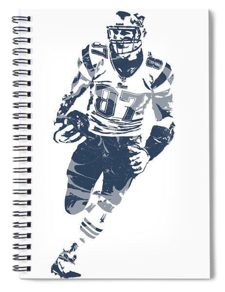Rob Gronkowski New England Patriots Pixel Art 11 Spiral Notebook