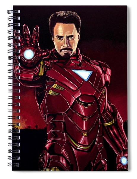 Robert Downey Jr. As Iron Man  Spiral Notebook