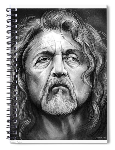 Robert Plant Spiral Notebook