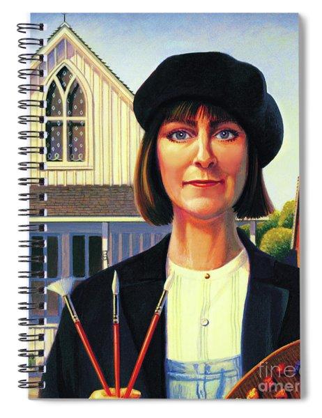 Robin Wood Self-portrait Spiral Notebook