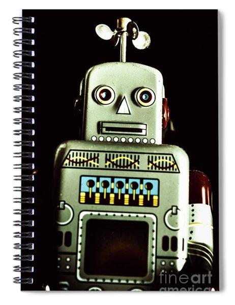 Robotic Spaceman Spiral Notebook