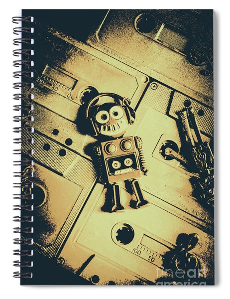 Robotic Trance Spiral Notebook