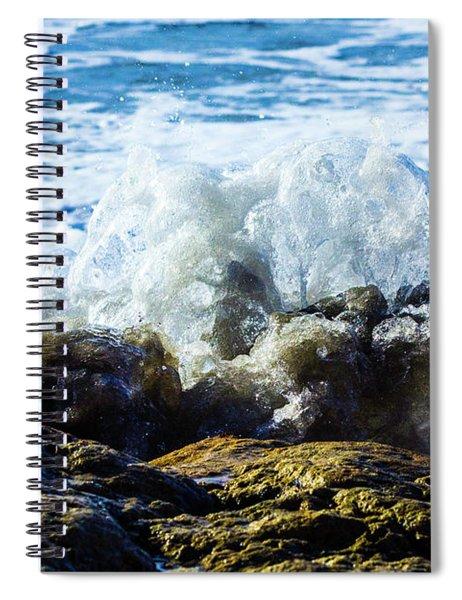 Wave Meets Rock Spiral Notebook