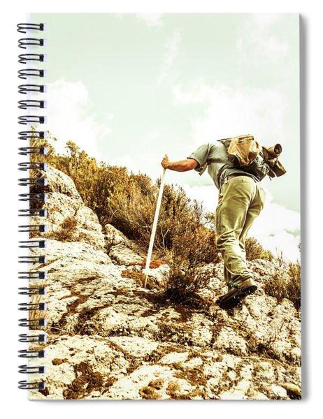 Rock Climbing Mountaineer Spiral Notebook