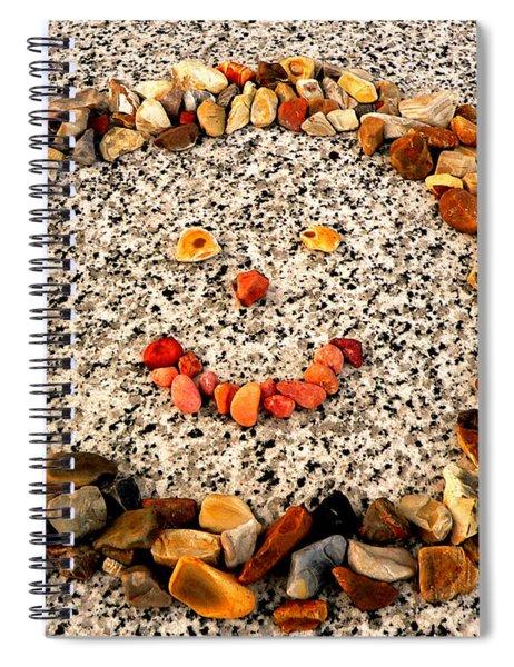 Rock Face On Granite Spiral Notebook
