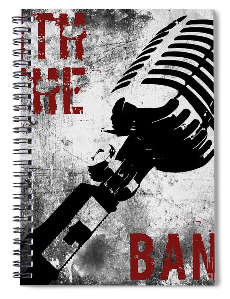 Rock N Roll Microphone  Spiral Notebook