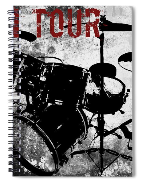 Rock N Roll Percussion  Spiral Notebook