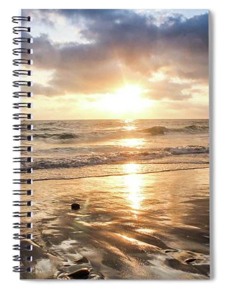 Spiral Notebook featuring the photograph Rock 'n Sunset by Alison Frank