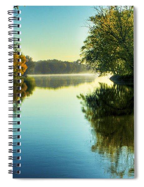 Rock River Autumn Morning Spiral Notebook
