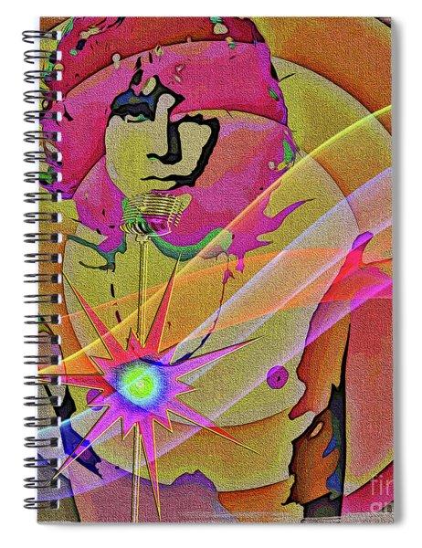 Spiral Notebook featuring the digital art Rock Star by Eleni Mac Synodinos