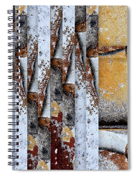 Rock Study 18 Square Spiral Notebook