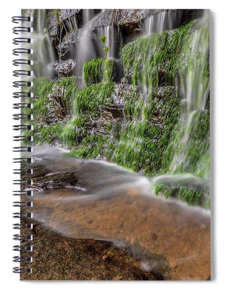 Rock Wall Waterfall Spiral Notebook