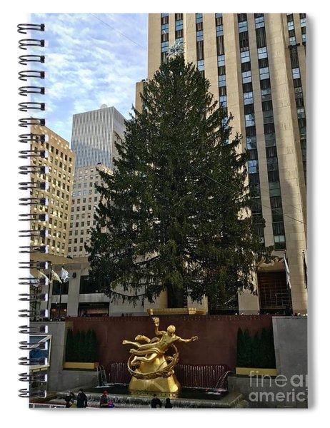 Rockefeller Center Christmas Tree Spiral Notebook