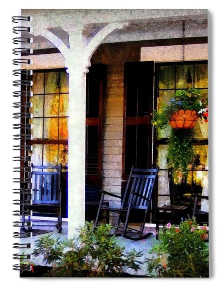 Rocking Chairs On A Country Porch  Spiral Notebook
