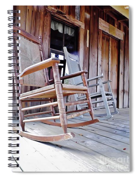 Rocking On The Front Porch Spiral Notebook