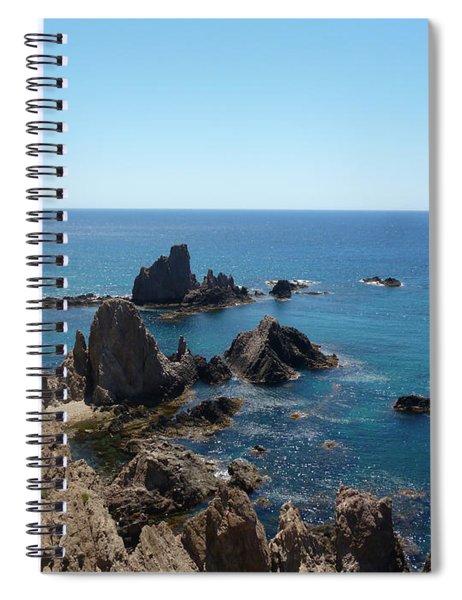 Rocks And Blue Spiral Notebook