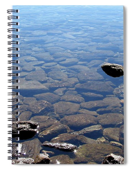 Rocks In Calm Waters Spiral Notebook