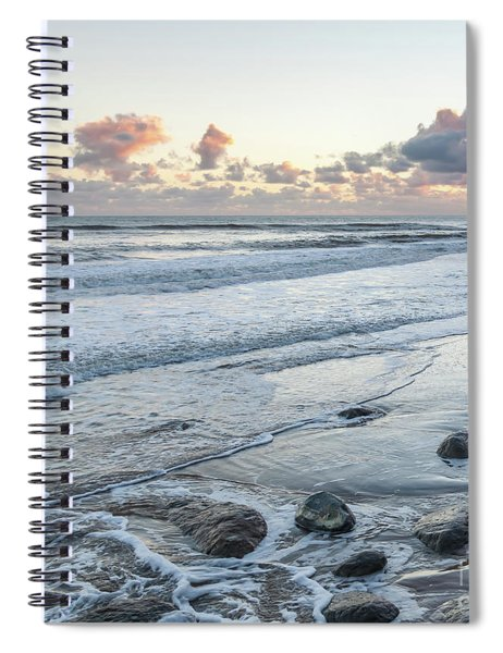 Rocks On The Beach During Sunset Spiral Notebook