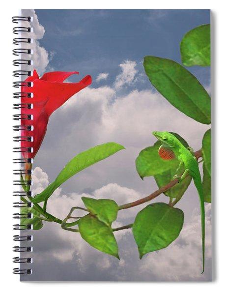 Rocktrumpet And Green Anole Spiral Notebook