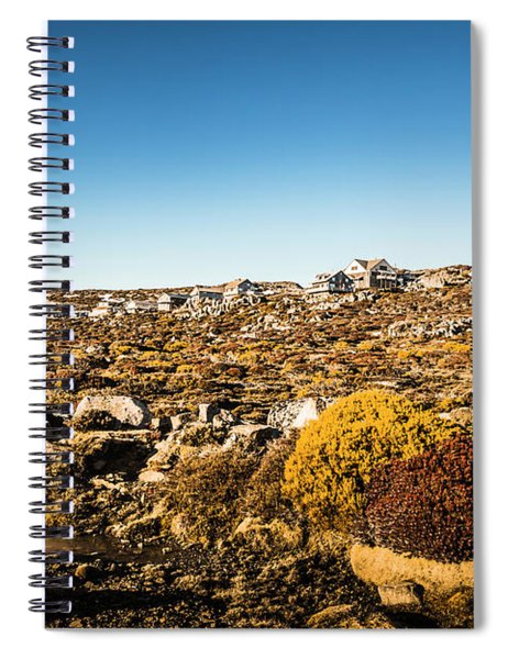 Rocky Alpine Village Spiral Notebook