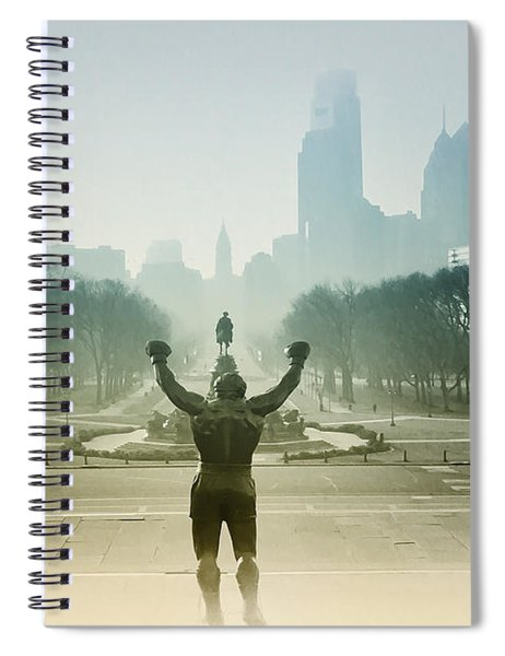 Rocky At The Top Of The Steps Spiral Notebook