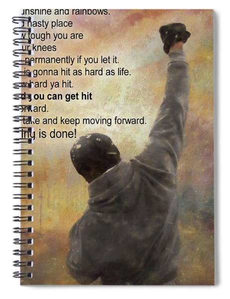 Rocky Balboa Inspirational Quote Spiral Notebook