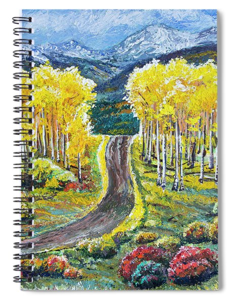 Rocky Mountain Road Spiral Notebook