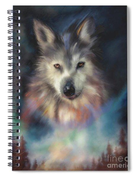 Rocky Mountain Wolf Series Spiral Notebook
