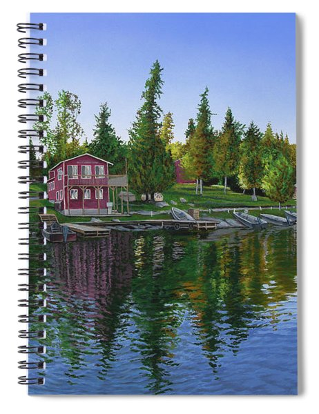Rocky Shore Lodge Spiral Notebook