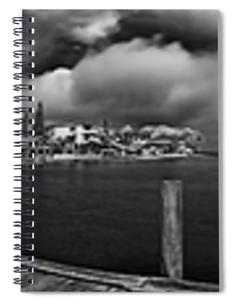 Rod And Reel Pier In Infrared Spiral Notebook