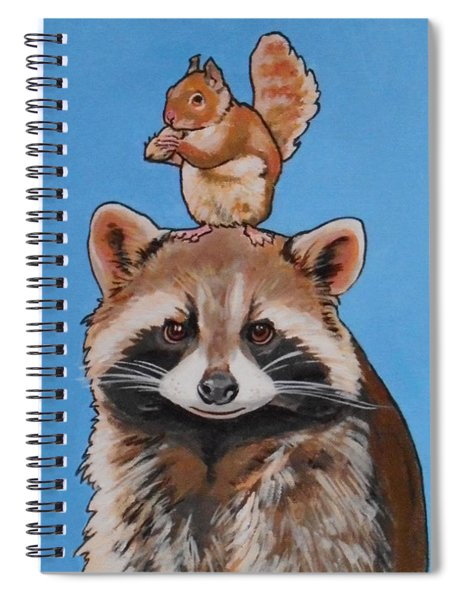 Rodney The Raccoon Spiral Notebook