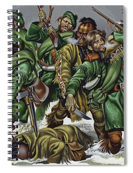 Rogers Rangers Fought A Hand-to-hand Battle In The Snow With The French And Indians Spiral Notebook