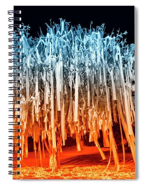 Rolled Tree Orangenblue Spiral Notebook