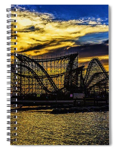 Roller Coaster Sunset Spiral Notebook
