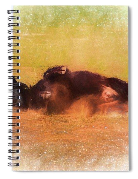 Rolling Bison Spiral Notebook